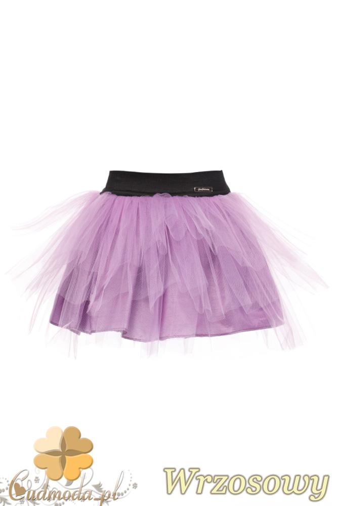 MA049 Tiulowa spódniczka dziecięca baletnica - wrzosowa