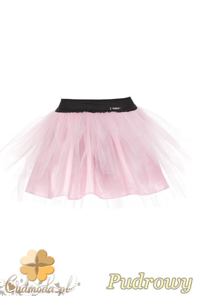 MA049 Tiulowa spódniczka dziecięca baletnica - pudrowa