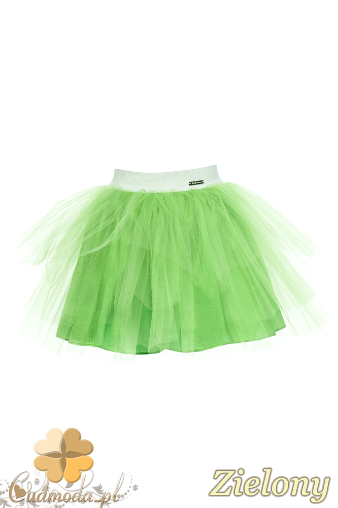 MA049 Tiulowa spódniczka dziecięca baletnica - zielona