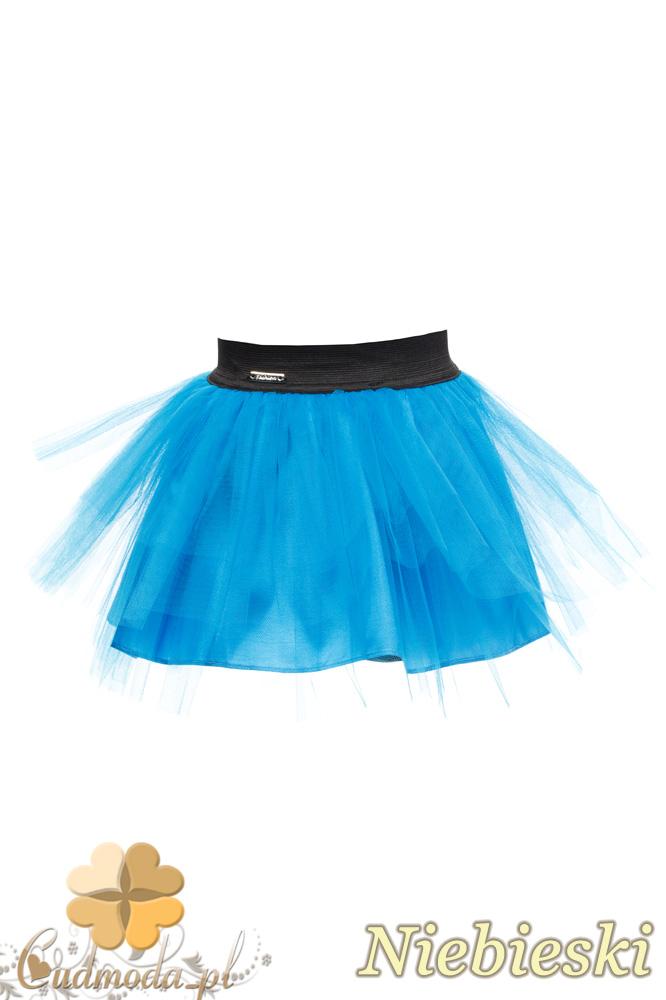 MA049 Tiulowa spódniczka dziecięca baletnica - niebieska