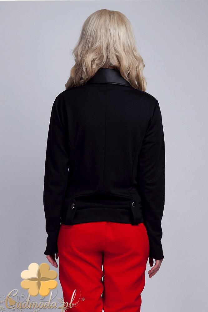 CM1535 Zasuwana kurtka ramoneska - czarna