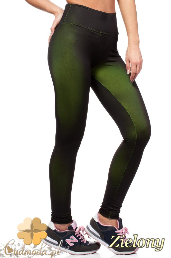 CM1563 Sportowe legginsy fitness - zielone