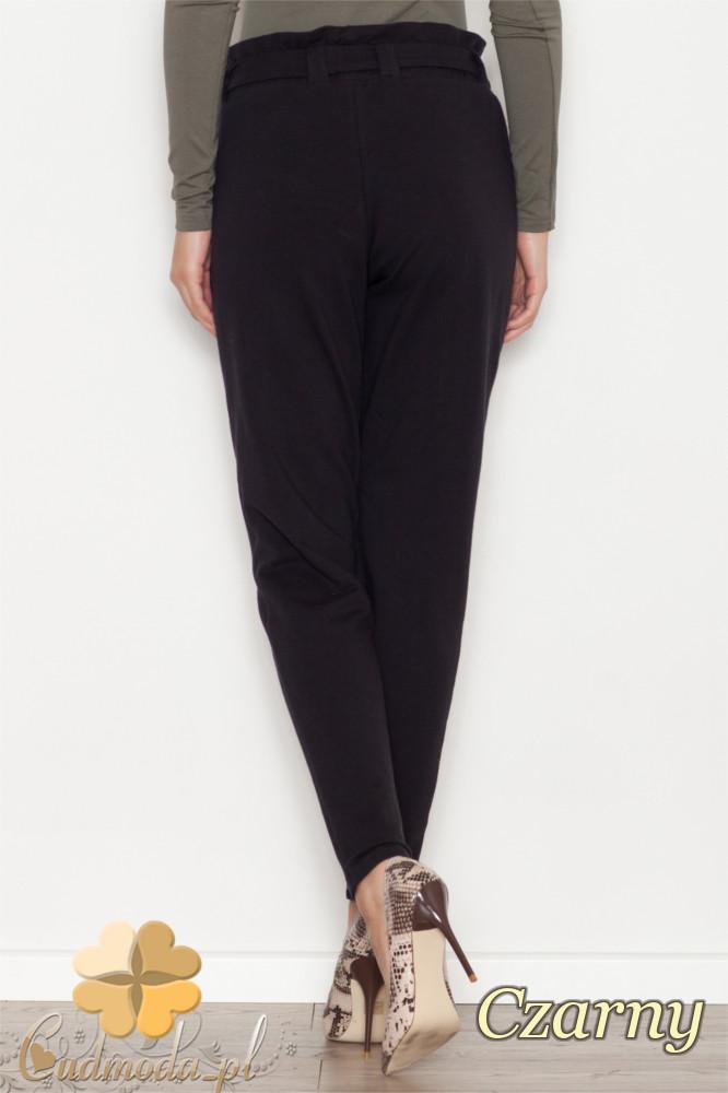 CM1613 Bawełniane spodnie dresowe z kokardą - czarne