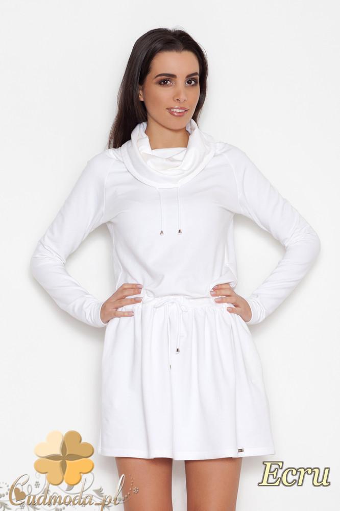CM1615 Bawełniana sukienka-tunika sportowa - ecru