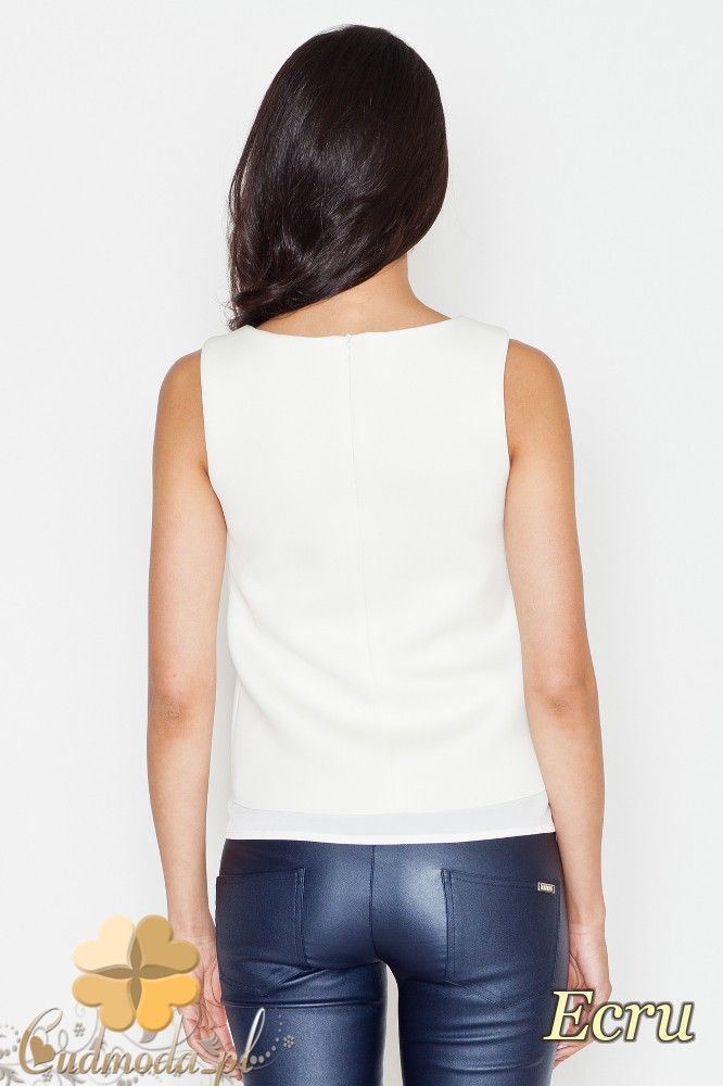 CM1621 Zwiewna bluzka na ramiączkach - ecru