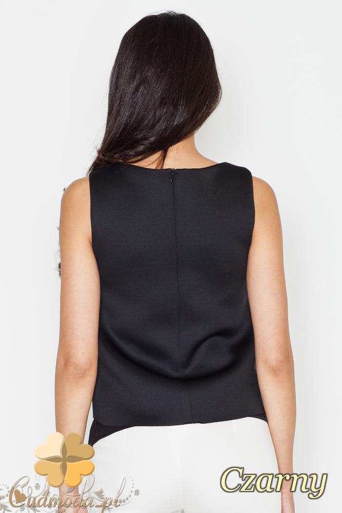 CM1621 Zwiewna bluzka na ramiączkach - czarna