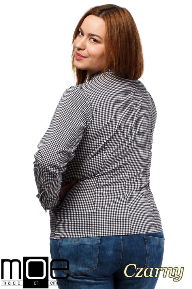 CM1642 Klasyczna koszula damska z długim rękawem - czarna