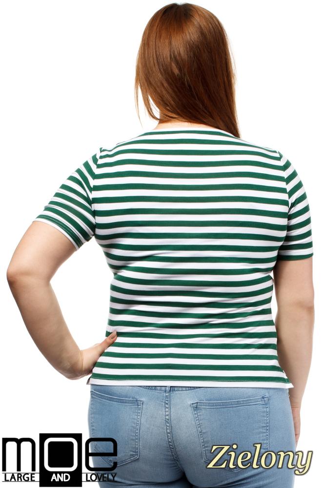CM1646 Modna damska bluzka z krótkim rękawem - zielona