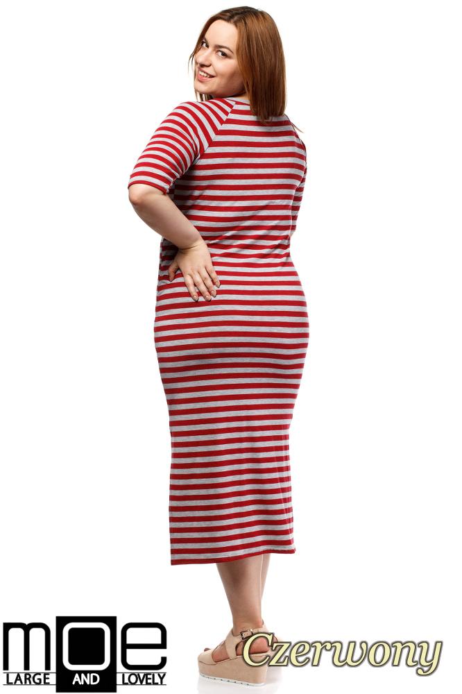 CM1648 Elegancka sukienka maxi - czerwona