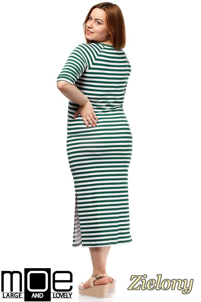 CM1648 Elegancka sukienka maxi - zielona