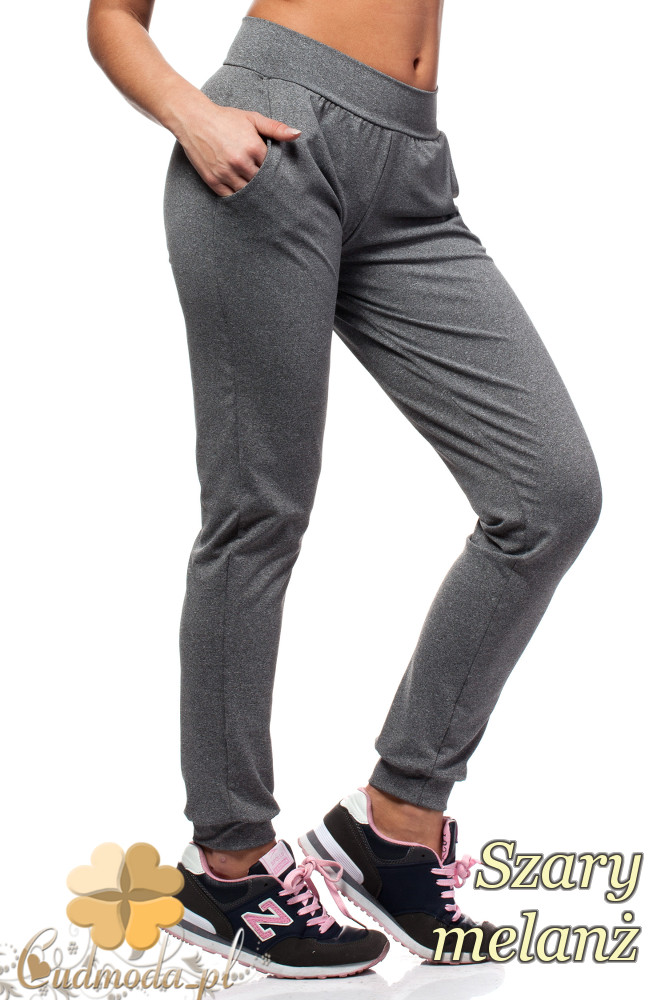 CM1016 Elastyczne spodnie dresowe Paulo Connerti - szary melanż