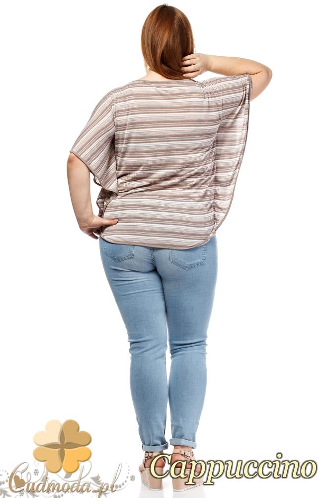 CM1659 Zwiewna luźna bluzka kobieca - cappuccino