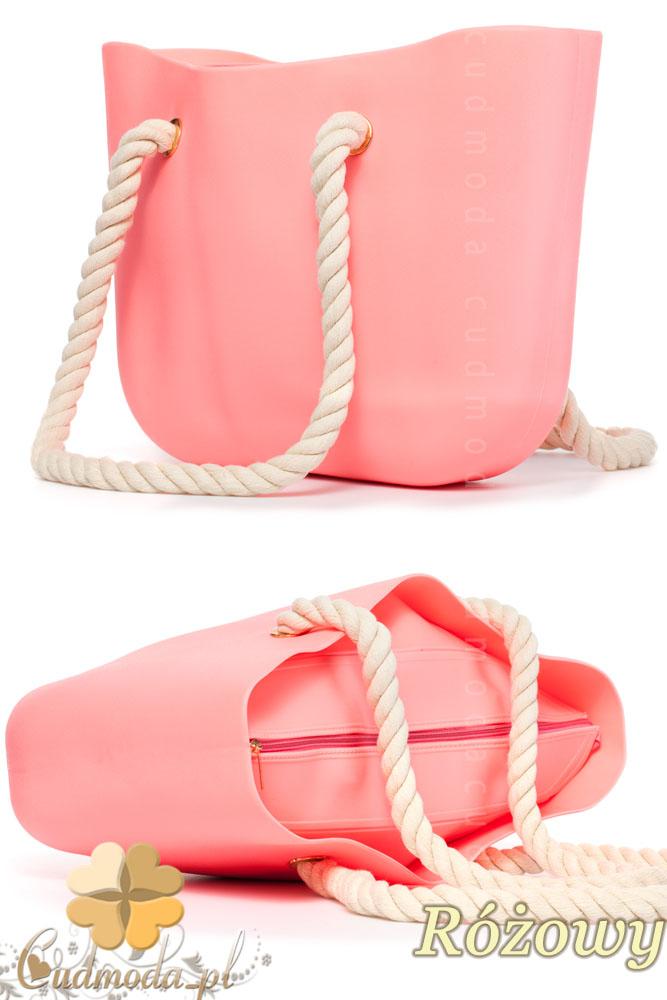 WYCOFANY Gumowa torebka JELLY BAG - różowa