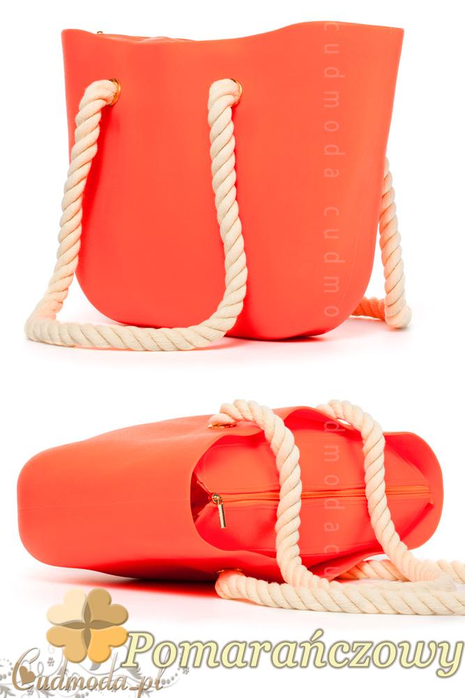 CM1607 Gumowa torebka JELLY BAG - pomarańczowa