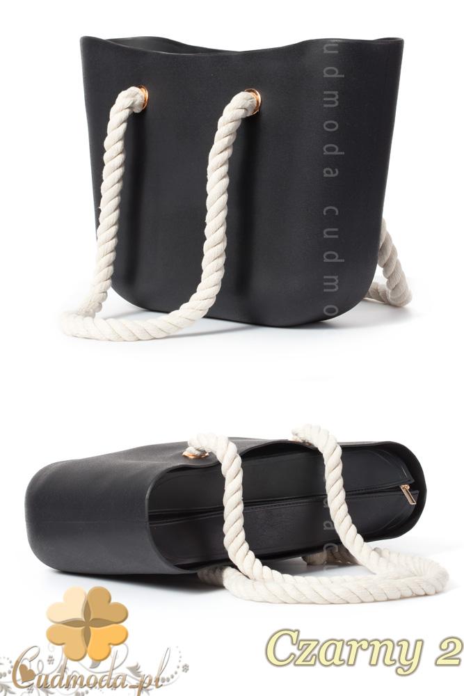 CM1607 Gumowa torebka JELLY BAG - czarna 2