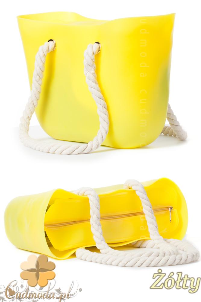 CM1607 Gumowa torebka JELLY BAG - żółta