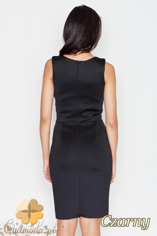 CM1701 Ołówkowa sukienka wieczorowa - czarna