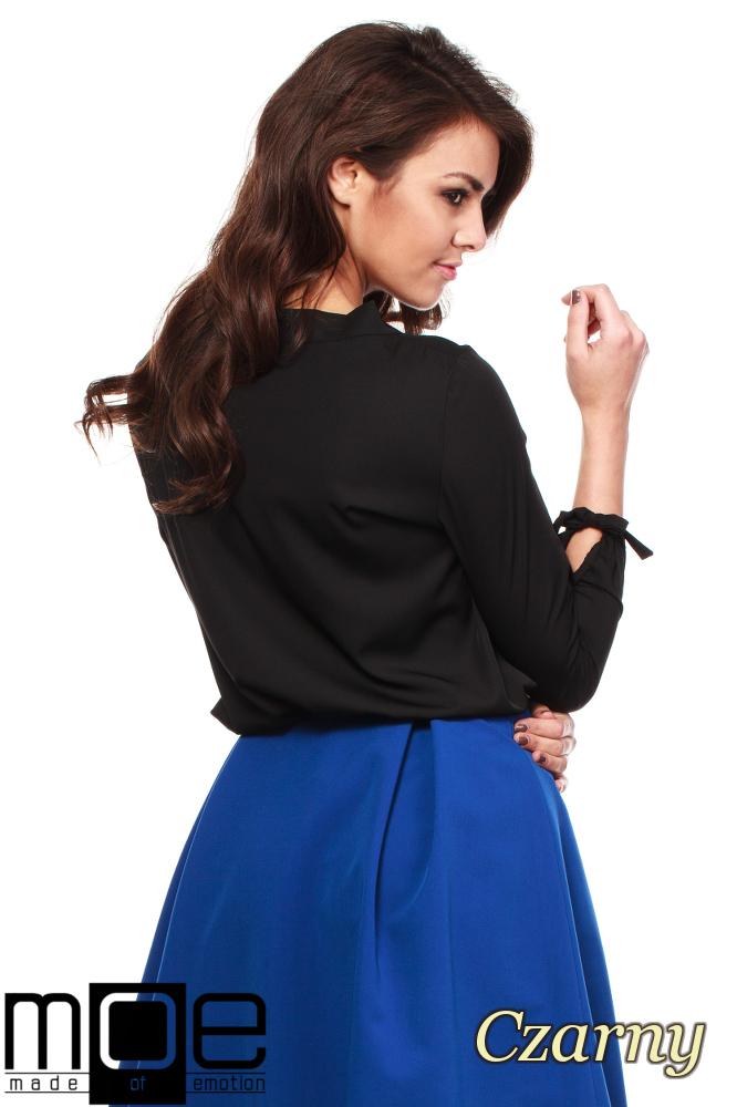 CM1237 Elegancka, kobieca bluzka koszulowa - czarna