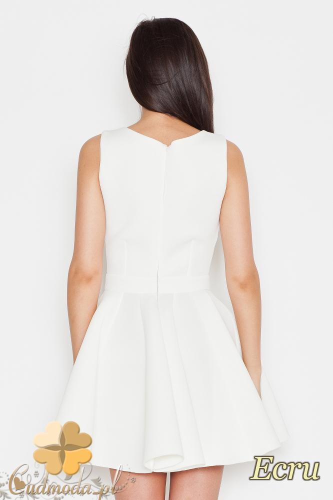 CM1706 Sukienka na ramiączkach z kokardą - ecru