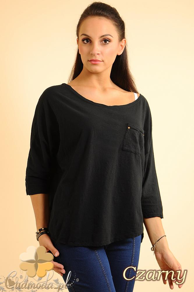 CM0141 Bluzka koszula z ćwiekami na plecach - czarna