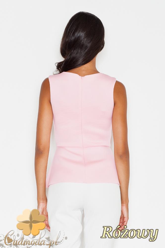 CM1727 Bluzka na ramiączkach z rozcięciem - różowa