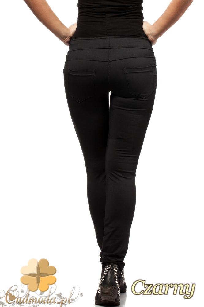 CM0732 Ciążowe legginsy spodnie z kieszeniami - czarne