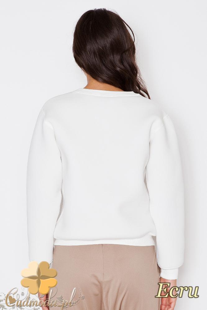 CM1743 Elegancka bluzka damska z długim rękawem - ecru