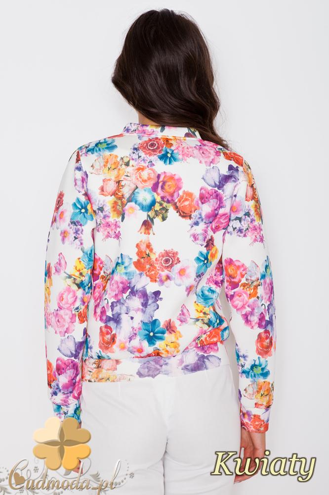 CM1746 Zasuwana kurtka damska w kwiaty