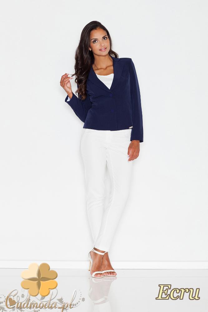 CM1771 Eleganckie spodnie kobiece na lato - ecru