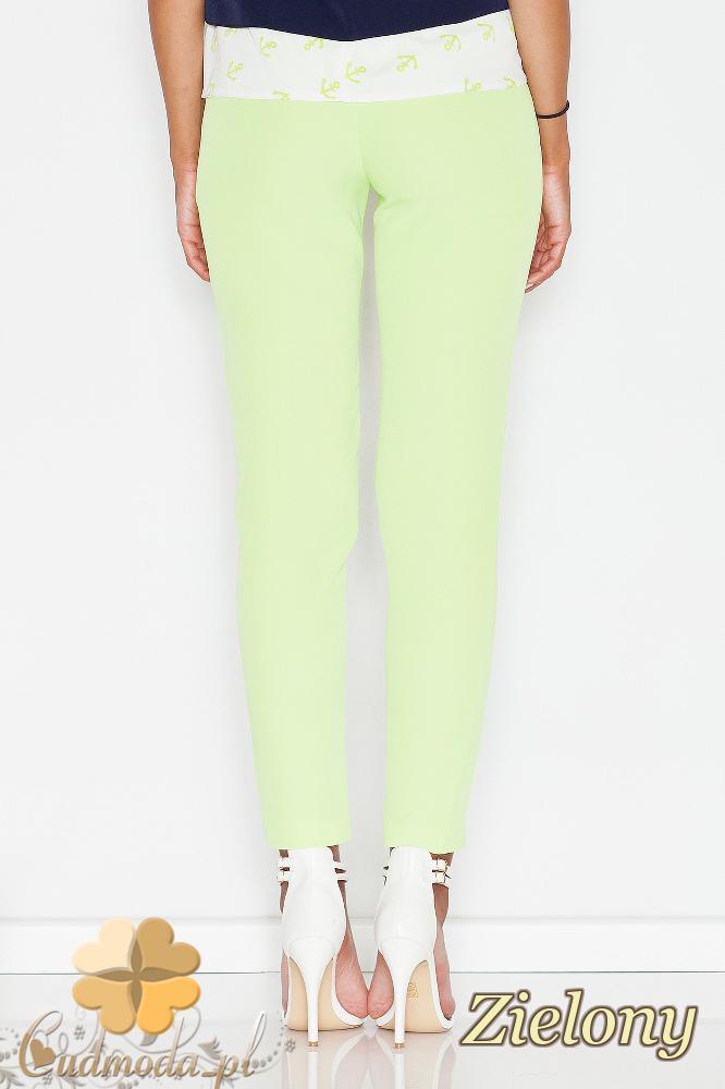 CM1771 Eleganckie spodnie kobiece na lato - zielone