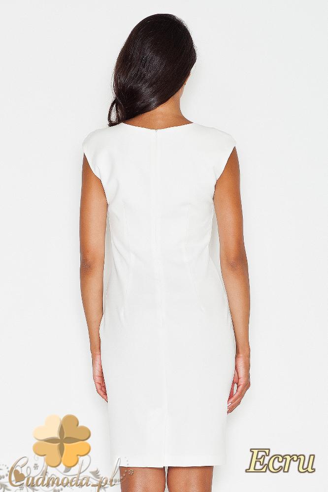 CM1772 Dopasowana wieczorowa sukienka mini - ecru
