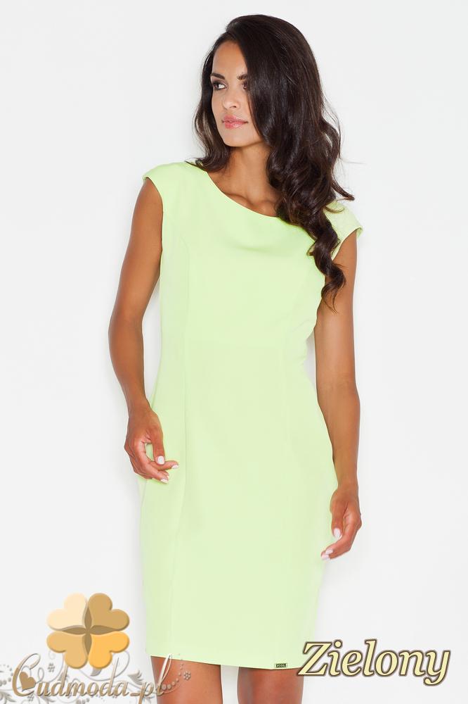CM1772 Dopasowana wieczorowa sukienka mini - zielona