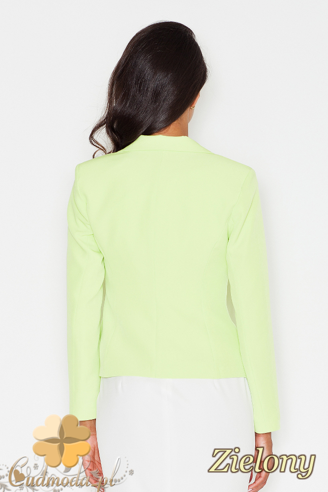 CM1773 Zapinany żakiet damski - zielony