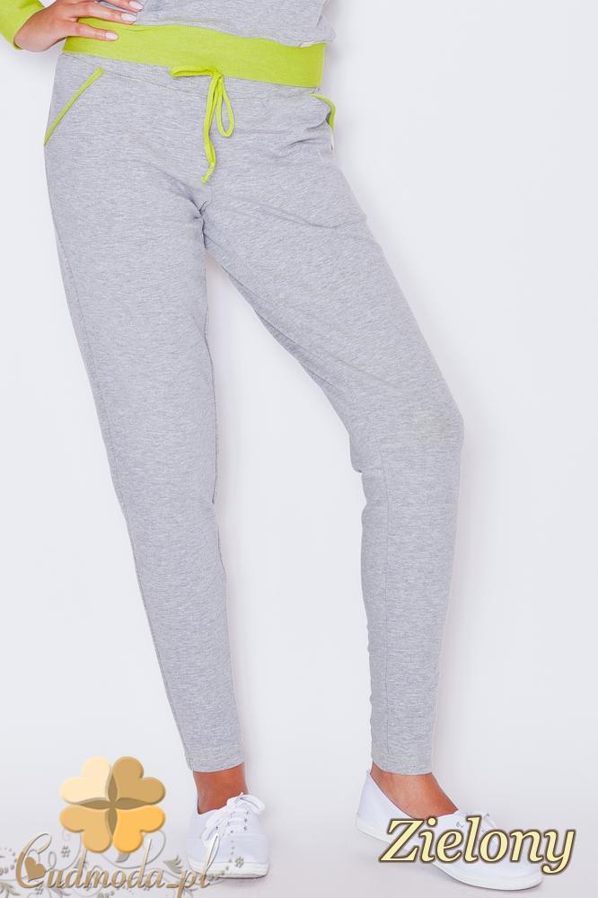 CM1788 Dresowe sportowe spodnie damskie - zielone