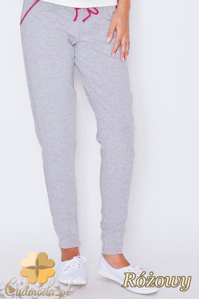CM1788 Dresowe sportowe spodnie damskie - różowe