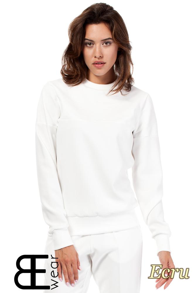 CM1866 Elegancka bluzka damska z długim rękawem - ecru
