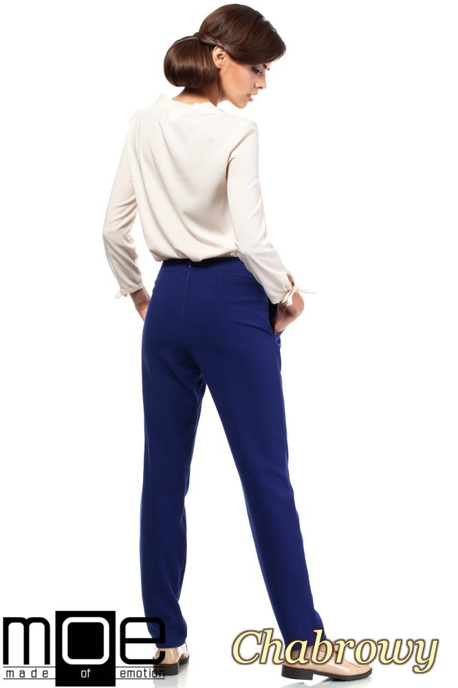 CM1875 Modne spodnie damskie chinosy - chabrowe