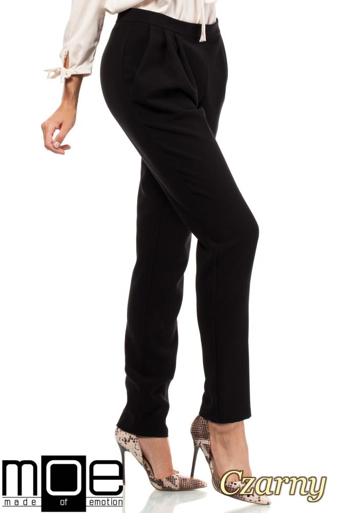 CM1875 Modne spodnie damskie chinosy - czarne