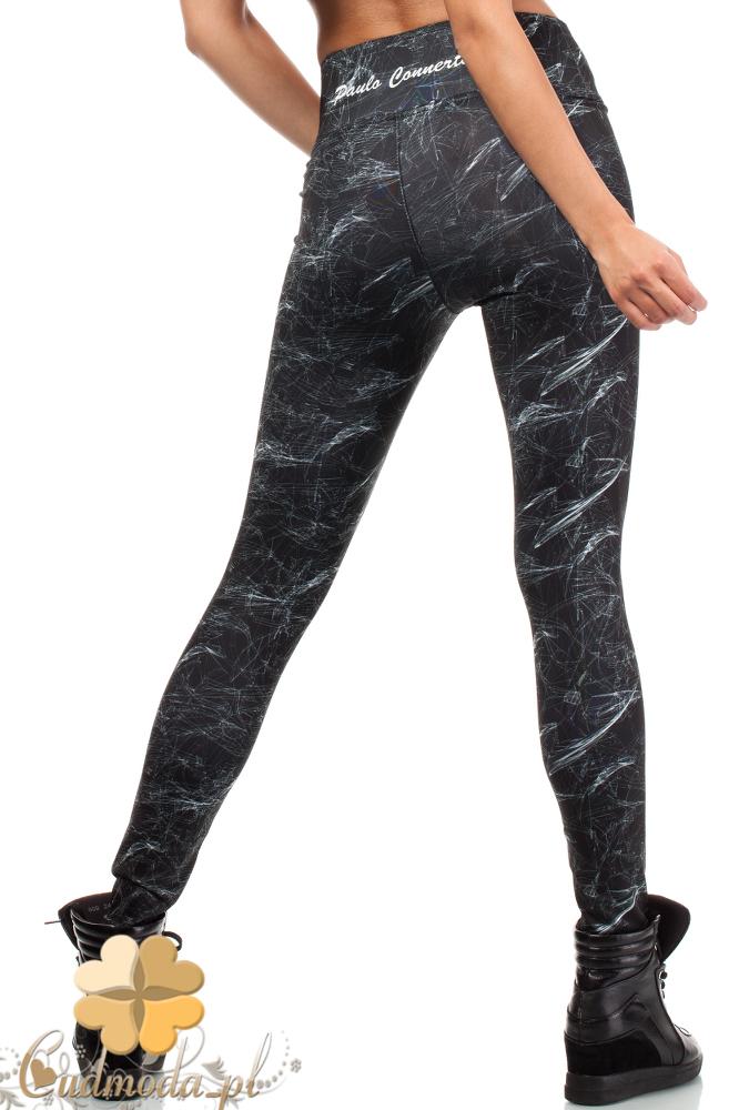 CM1836 Sportowe legginsy we wzór na fitness
