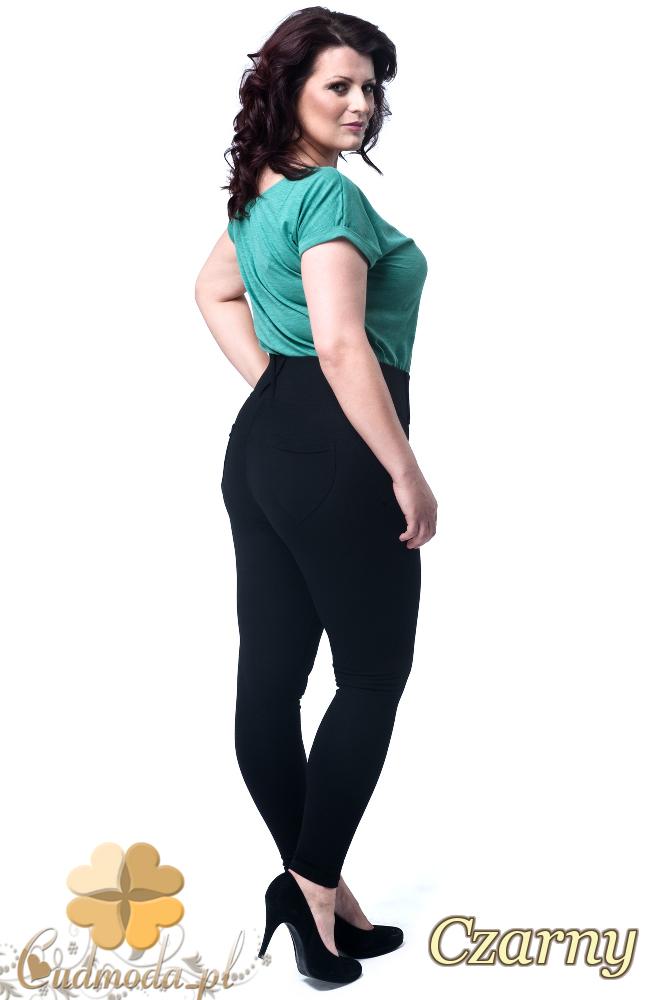 CM1900 Włoskie wyszczuplające legginsy z wysokim stanem - czarne