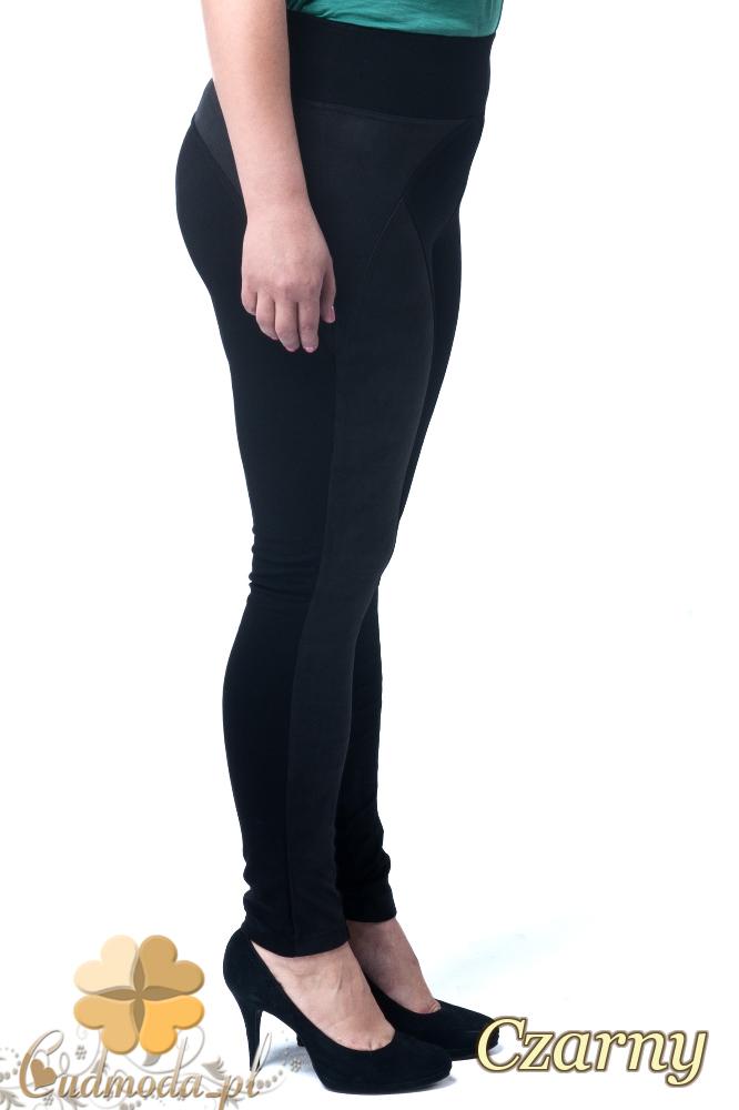 CM1902 Zamszowe legginsy damskie - czarne