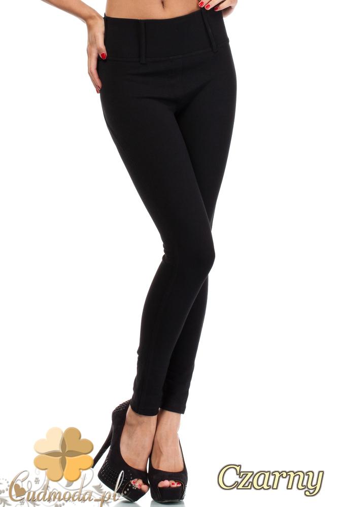 CM1917 Legginsy Push-Up dopasowane spodnie damskie - czarne