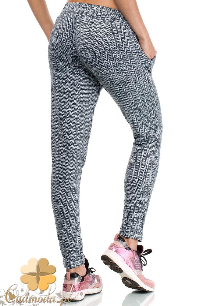 CM1936 Dresowe spodnie damskie ze sznurkiem w pasie