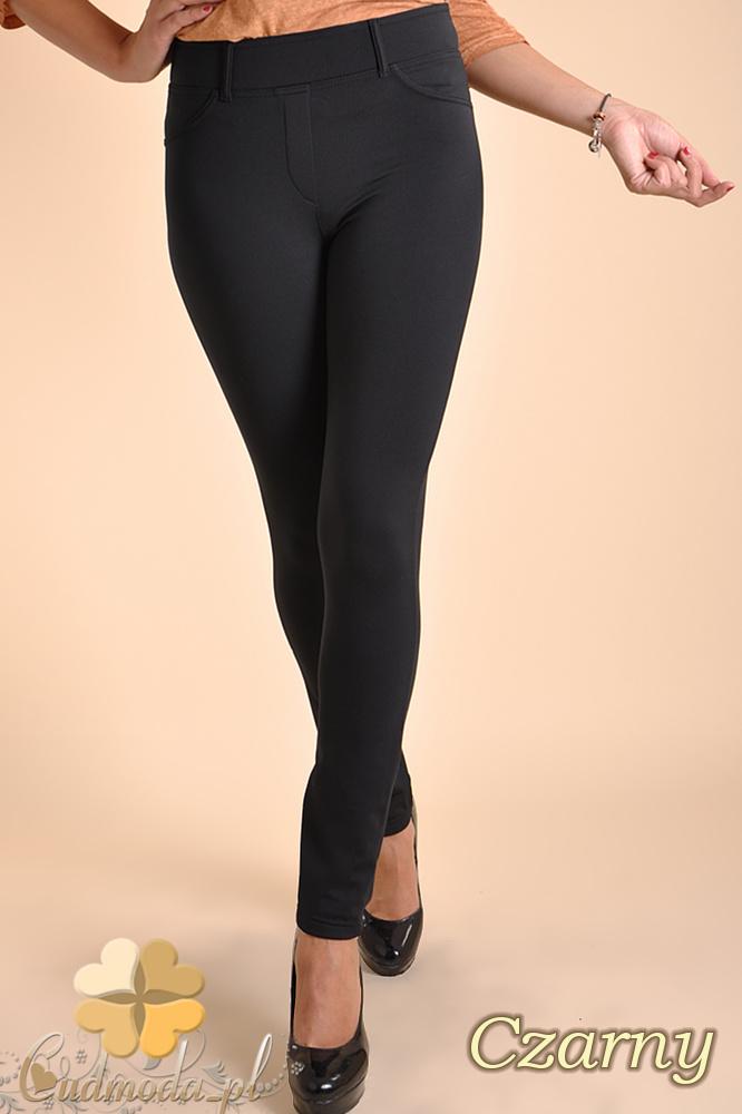 CM0032 Włoskie ciepłe legginsy ocieplone polarem - czarne