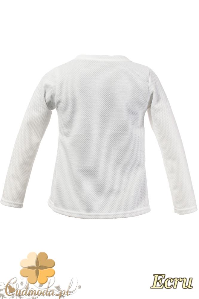 MA099 Dziewczęca bluzeczka z czarnym żabotem - ecru