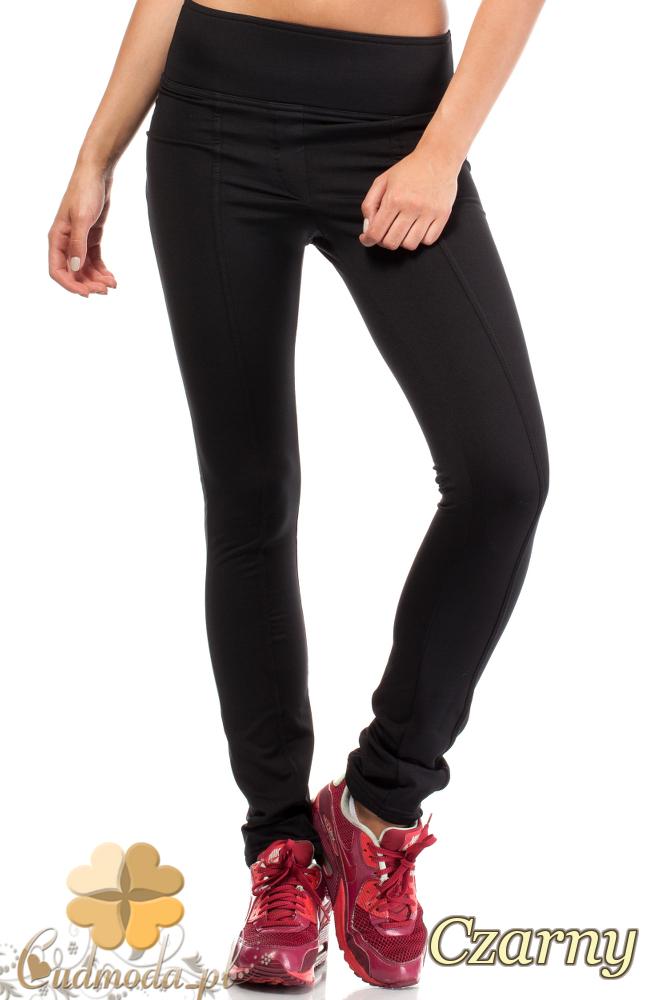 CM1841 Elastyczne dopasowane legginsy z wysokim stanem - czarne