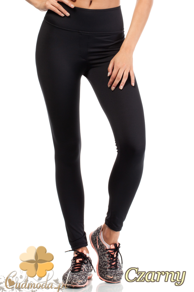 CM1828 Dopasowane legginsy elastyczne z wysokim stanem - czarne