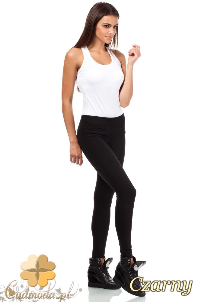 CM1811 Sportowe legginsy bez kieszeni - czarne