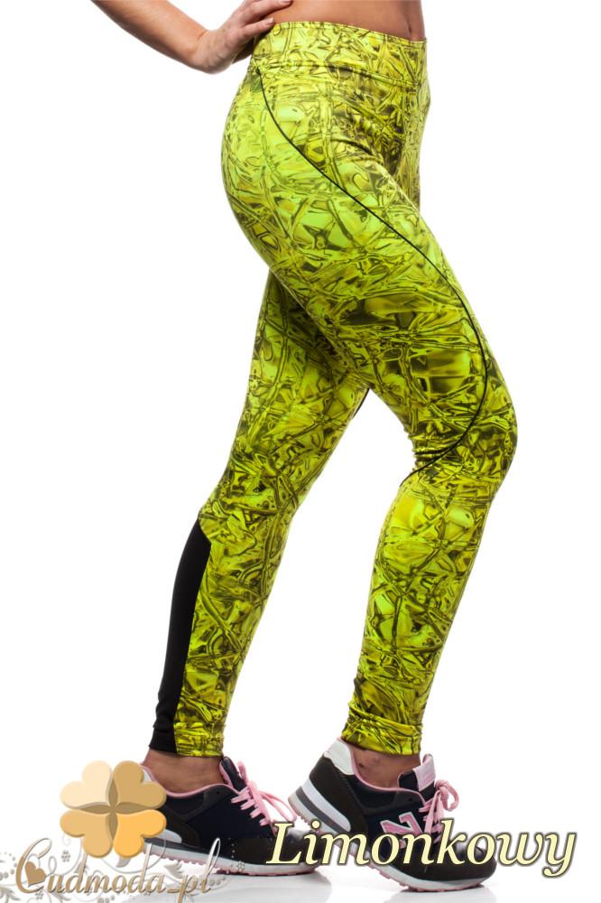 CM1434 Dopasowane legginsy neonowe - żółte