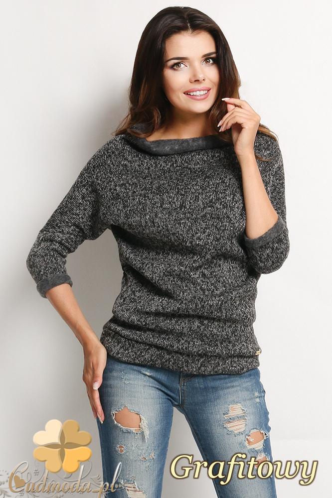 CM2020 Sweter z półgolfem i długimi rękawami - grafitowy